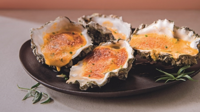 baked oysters with maple