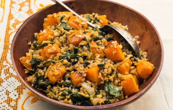 freekeh with kale