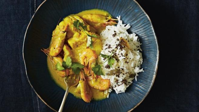 Portuguese fish curry