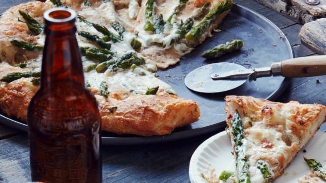 white bean puree asparagus
